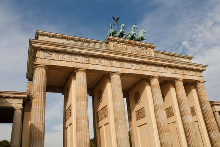 The Brandenburger Tor (Brandenburg Gate) is THE landmark of Berlin, Germany. Stock Photo - 5623735