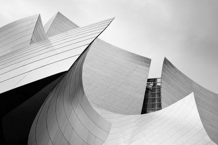 現代抽象アーキテクチャ: コンサート ホールのダウンタウン ロサンゼルス、カリフォルニア州 報道画像