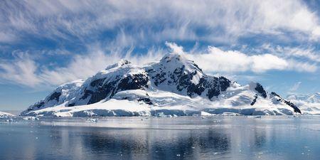 パラダイス ベイ、南極大陸 - 南極の近く壮大な氷のような不思議の国のパノラマ ビュー