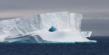 Huge Tabular Iceberg Floating in Bransfield Strait, Antarctic Peninsula, Antarctica Stock Photo - 6082530