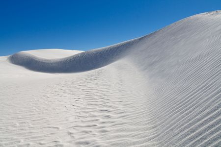 Sand Dune at White Sands National Monument, New Mexico, USA photo