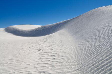 white sands national monument: Sand Dune at White Sands National Monument, New Mexico, USA Stock Photo