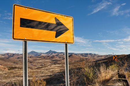 Directional Road Sign in Southern Arizona, USA. Stock Photo - 6255576
