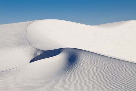 Sand Dune at White Sands National Monument, New Mexico, USA Stock Photo