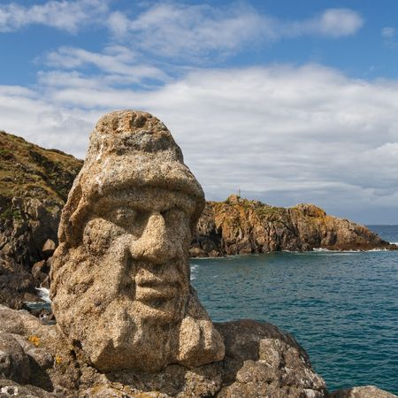 Les Rochers Sculptes (Sculptures) in Rotheneuf, Saint-Malo, Brittany, France. photo