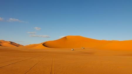 erg: Sahara Desert Safari  Stock Photo