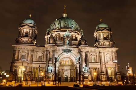 Berliner Dom (Berlin Cathedral) at night, Berlin, Germany, Europe Stock Photo - 9679862