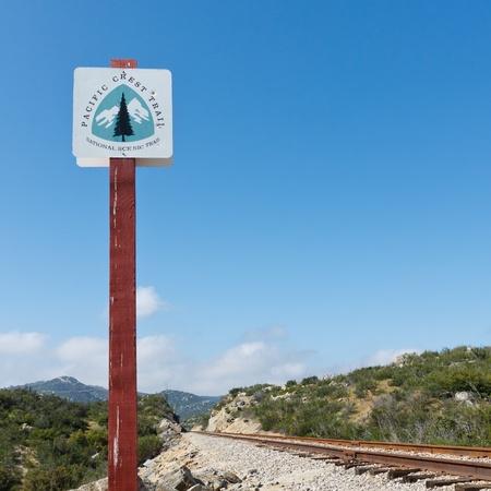 pacific crest trail: Pacific Crest Trail Sign in California, USA