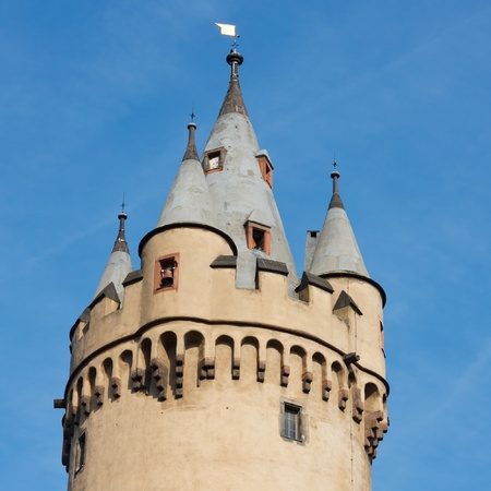 turret: Old Turret with Crenels in Frankfurt, Germany