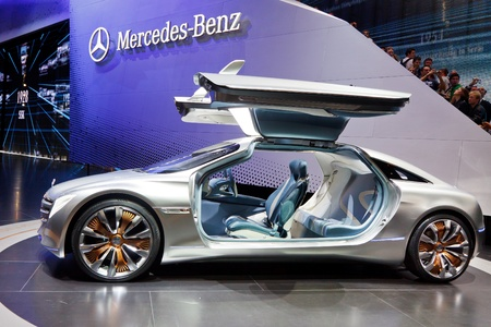 iaa: FRANKFURT - SEP 24: Mercedes-Benz F125 Concept Car shown at the 64th IAA Motor Show (Internationale Automobil-Ausstellung) in Frankfurt, Germany, on September 24, 2011.