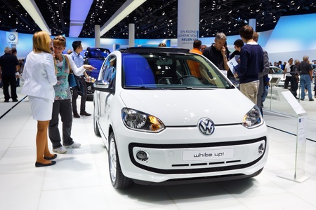 64th iaa: FRANKFURT - SEP 24: Volkswagen Up! shown at the 64th IAA Motor Show (Internationale Automobil-Ausstellung) in Frankfurt, Germany, on September 24, 2011.