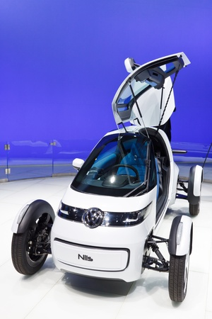64th iaa: FRANKFURT - SEP 24: Volkswagen Nils Concept Car shown at the 64th IAA Motor Show (Internationale Automobil-Ausstellung) in Frankfurt, Germany, on September 24, 2011.