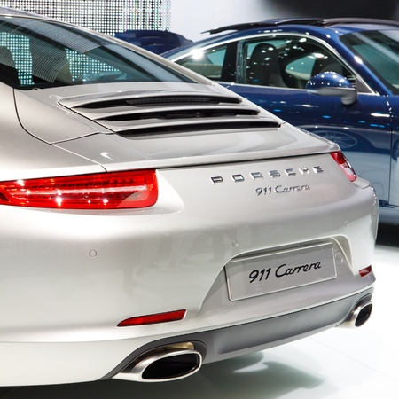 FRANKFURT - SEP 24: Porsche 911 Carrera shown at the 64th IAA Motor Show (Internationale Automobil-Ausstellung) in Frankfurt, Germany, on September 24, 2011.