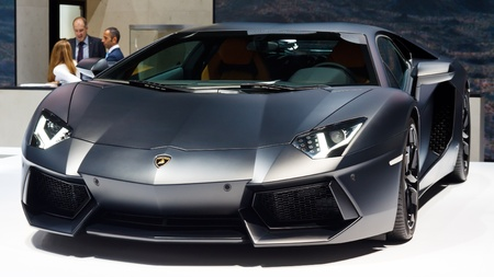 FRANKFURT - SEP 24: Lamborghini Aventador LP 700-4 shown at the 64th IAA Motor Show (Internationale Automobil-Ausstellung) in Frankfurt, Germany, on September 24, 2011.