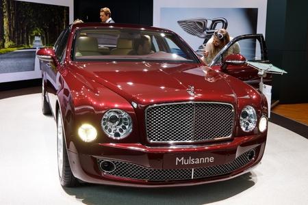 iaa: FRANKFURT - SEP 24: Bentley Mulsanne shown at the 64th IAA Motor Show (Internationale Automobil-Ausstellung) in Frankfurt, Germany, on September 24, 2011.