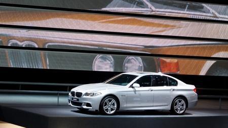 FRANCFORT - SEP 24: BMW 535d voiture pr�sent�e au Salon de 64e IAA (Internationale Automobil-Ausstellung) � Francfort, en Allemagne, le Septembre 24, 2011.