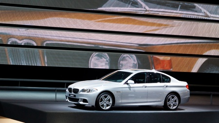 FRANKFURT - SEP 24: BMW 535d car shown at the 64th IAA Motor Show (Internationale Automobil-Ausstellung) in Frankfurt, Germany, on September 24, 2011.