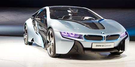 Francfort - SEP 24 : BMW i8 Concept-car montr� � la 64e IAA Motor Show (Internationale Automobil-Ausstellung) � Francfort, Allemagne, le 24 septembre 2011. Editeur