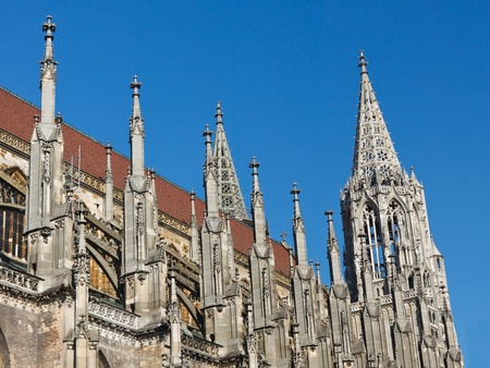 Ulm Minster  Cathedral (Ulmer Muenster), in Ulm, Germany, has the worlds tallest church steeple. photo