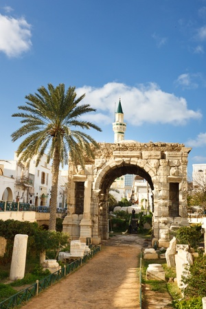 The Arch of Roman emperor Marcus Aurelius in Tripoli, Libya
