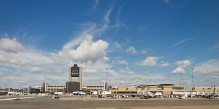BOSTON - AUG 3: Logan International Airport, Boston, on August 3, 2011. It is the 19th busiest airport in the United States. Stock Photo - 11175303