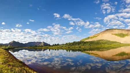 san juans: Mountain lake idyll in the Rocky Mountains in Colorado. Stock Photo