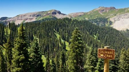 san juans: Colorado Trail sign in the Rocky Mountains, Colorado.