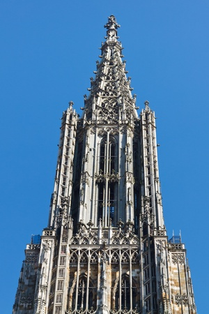 steeples: Top of Ulm Minster  Cathedral (Ulmer Muenster), in Ulm, Germany, the worlds tallest church steeple.