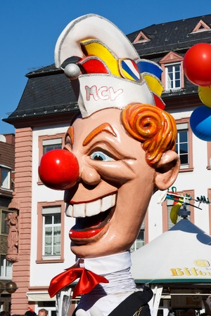 fasnet: MAINZ, GERMANY - MARCH 7: The Rose Monday Parade (Rosenmontagszug) moves through the city March 7, 2011 in Mainz, Germany. It is the culmination of the annual carnival season. Editorial