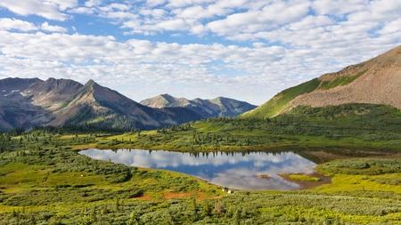 Beautiful lake in the San Juan Mountains in Colorado.