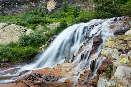 Beautiful cascading waterfall in Colorado, USA.
