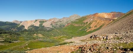Panorama of San Juan Mountains scenery in Colorado Stock Photo