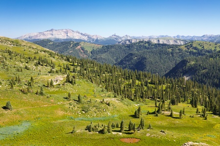 san juans: Great view of the San Juan Mountains from Blackhawk Pass along the Colorado Trail.