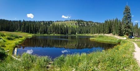 san juans: Mountain lake in the Rocky Mountains in Colorado.