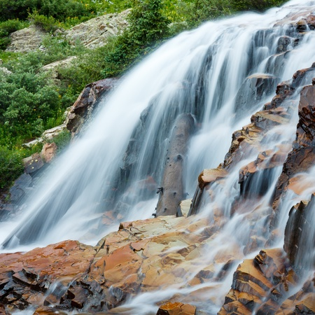 san juans: Cascading waterfall in the Rocky Mountains, Colorado.