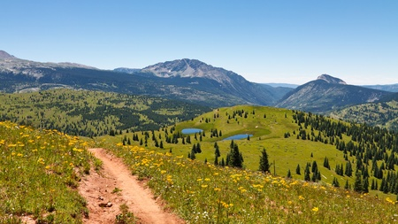 san juans: Idyllic Rocky Mountains scenery in Colorado.