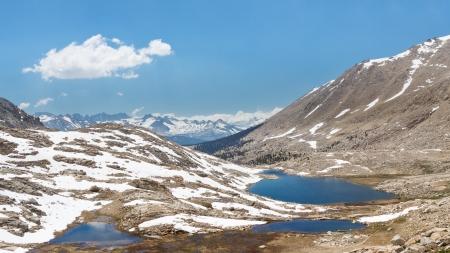 john muir wilderness: Guitarra Lake debajo cara oeste de Mount Whitney en la Sierra Nevada, California, EE.UU. Foto de archivo