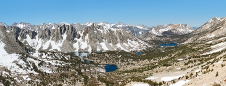 jmt: Grand Alpine View in the Sierra Nevada. Kearsarge Pass, California, USA.