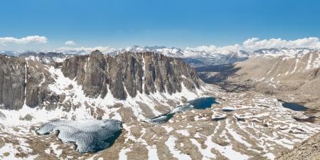 jmt: Sequoia National Park Alpine Lakes Panorama, Sierra Nevada, California, USA