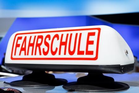 Fahrschule - German driving school car sign