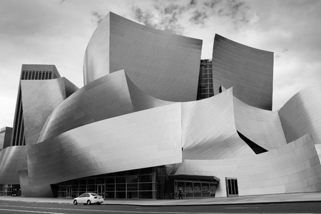 Modern Abstract Architecture: The Concert Hall in Downtown Los Angeles, California