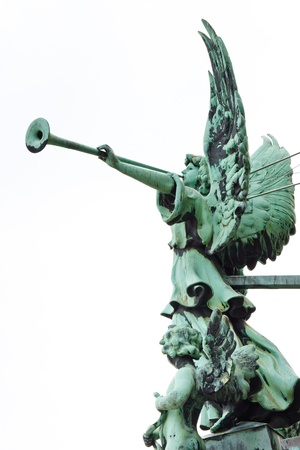 Statue of an angel with trumpet at the Berliner Dom (Berlin Cathedral), Berlin, Germany, Europe Stock Photo - 17262479
