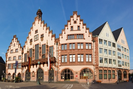 roemerberg: The Römer at Römerberg, Frankfurts Town Hall and center of the Old Town.