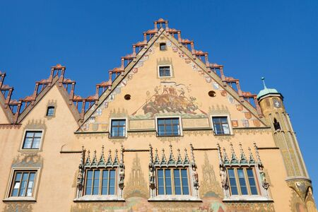 guildhall: The medieval town hall in Ulm, Germany. Editorial