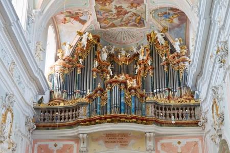 Great baroque church organ in Ochsenhausen, Germany. Stock Photo - 17262490
