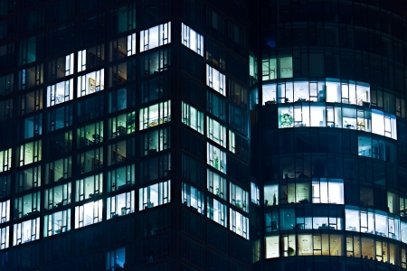 Office Building at Night. photo