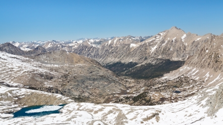 pct: Kings Canyon National Park Scenery. View from Forester Pass in the Sierra Nevada, California, USA. Stock Photo