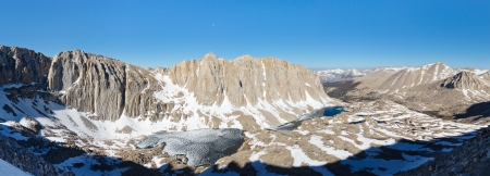 Mount Hitchcock Panorama - High Sierra scenery viewed from Mount Whitney.