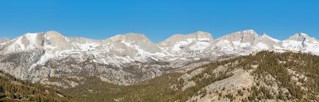 high sierra: Kaweah Peaks Ridge Panorama. Sequoia National Park, Sierra Nevada, California, USA.