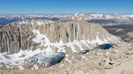 Snow Covered Sierra Nevada, California, USA.